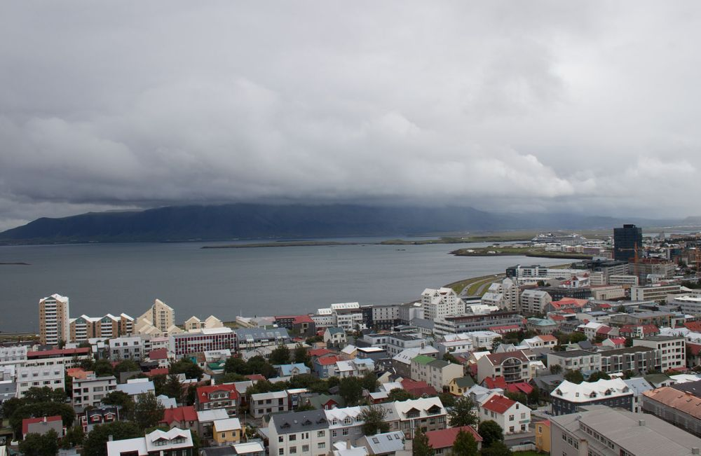 View_from_Hallgrimskirkja_towards_the_Esja
